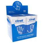 Clinell Antibacterial Hand Wipes (Box of 100)