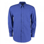Professional Construction Royal Blue Premium Long Sleeve Oxford Shirt (Derby College Professional Construction Embroidered)