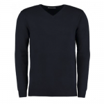 Professional Construction Navy Cotton Acrylic V-Neck Sweater (Derby College Professional Construction Embroidered)