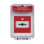 STI-6530 Universal Fire Alarm Stopper Flush Mount (Red)