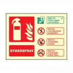 Landscape Photoluminescent Hydrospray Fire Extinguisher Sign