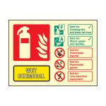 Landscape Photoluminescent Wet Chemical Fire Extinguisher Sign