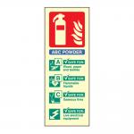 Portrait Photoluminescent ABC Dry Powder Fire Extinguisher Sign