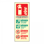 Portrait Photoluminescent AFFF Foam Fire Extinguisher Sign