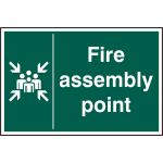Rigid PVC 300 x 200mm Fire Assembly Point Sign (Pack of 5)