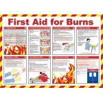 59 x 42cm First Aid For Burns Poster