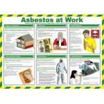 59 x 42cm Asbestos At Work Poster