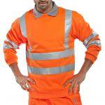 B-Seen Hi-Vis Sweatshirt Orange