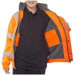 Bomber Fleece Lined Orange HV Jacket
