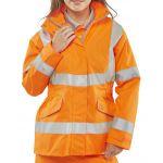 B-Seen Ladies Executive Hi-Vis Jacket Orange