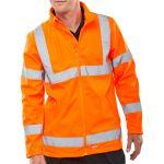 B-Seen Soft Shell Lightweight Hi-Vis Jacket Orange