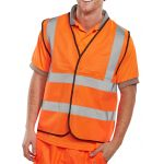 B-Seen EN ISO 20471 Orange Vest (Pack of 100)