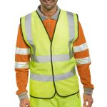 B-Seen EN ISO 20471 Yellow Vest