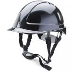 B-Brand Reduced Peak Helmet, Colour: Black - BBSHRPBL