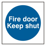 Fire Door Keep Shut Sign 100 x 100mm (Pack of 5)