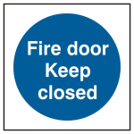 Fire Door Keep Closed Self Adhesive Sign (Pack of 5)