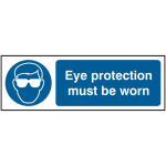Eye protection Must Be Worn 300 x 100mm Safety Sign (Pack of 5)