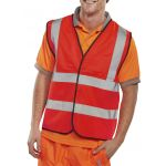 B-Seen Hi-Vis EN ISO 20471 Red Vest