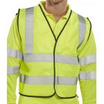 B-Seen Hi-Vis Yellow Mesh Vest
