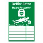 AED Trained Personnel Rigid Plastic Sign 20cm x 30cm