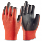 Click PU Coated 3 Fingerless Glove (Pack of 10)