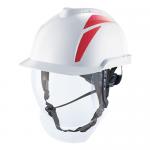 MSA V-Gard 950 Electrician Helmet - White/Red