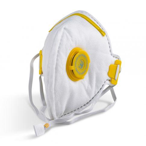 Fold Flat P3 Mask Valved White